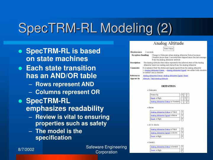 SpecTRM-RL Modeling (2)
