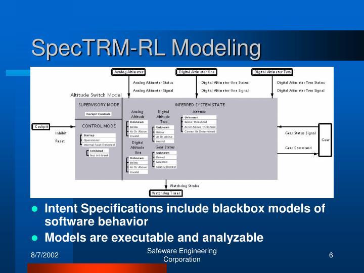 SpecTRM-RL Modeling