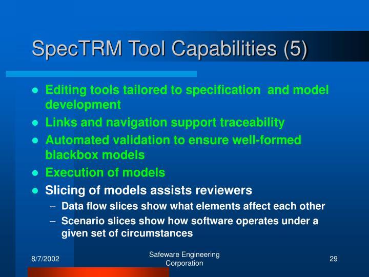 SpecTRM Tool Capabilities (5)