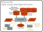 advance ms digital analog mixed signal simulation