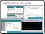 advance ms mixed verilog spice