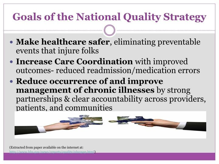 Goals of the National Quality Strategy