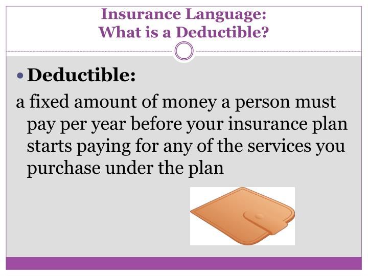 Insurance Language: