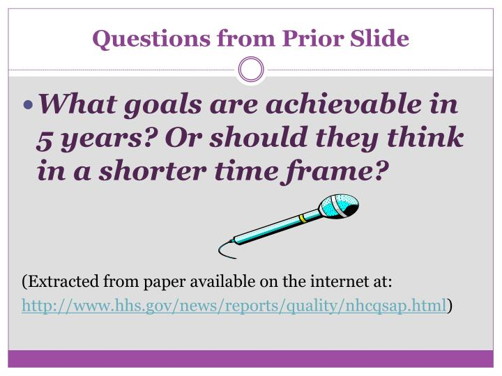 Questions from Prior Slide