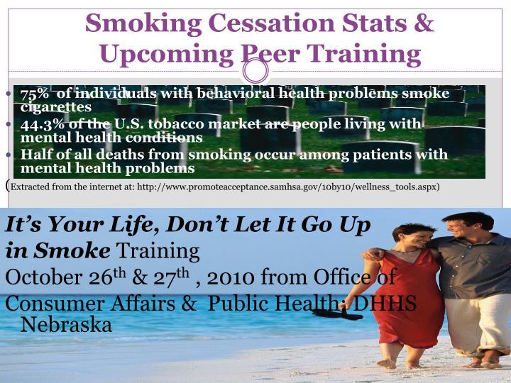 Smoking Cessation Stats & Upcoming Peer Training