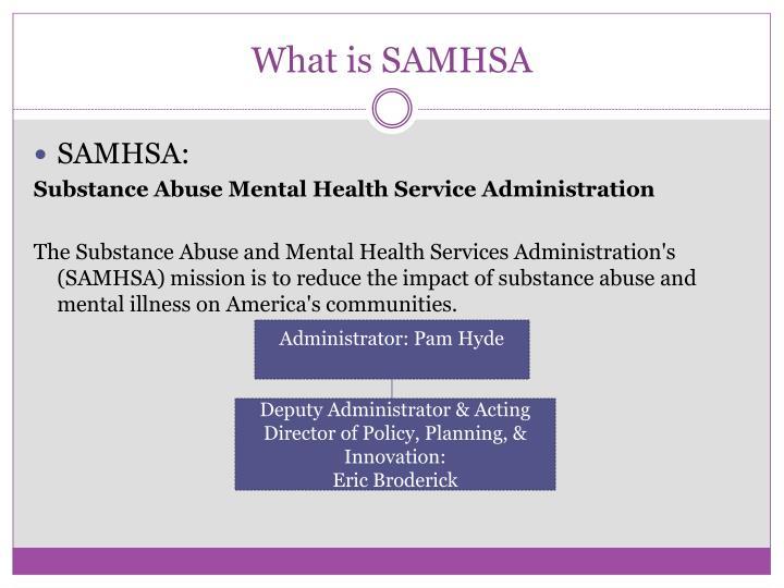 What is SAMHSA