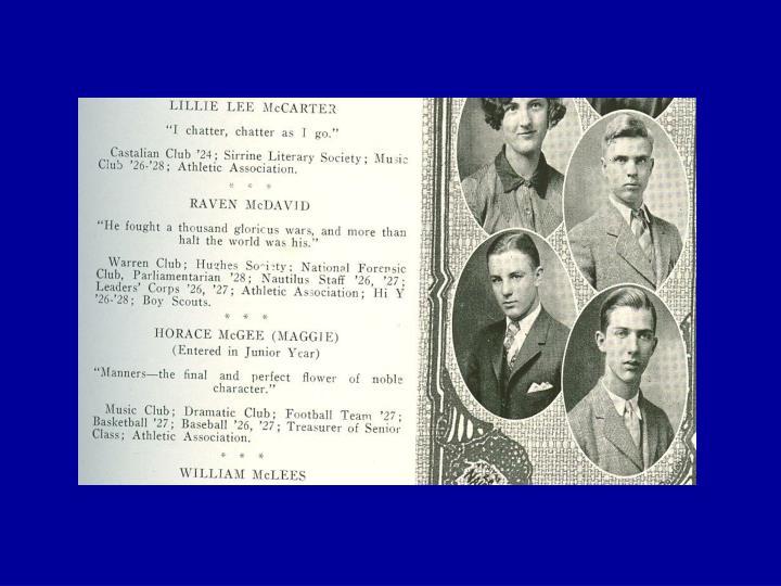 Raven ioor mcdavid jr oct 16 1911 1984