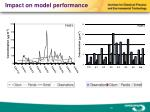 impact on model performance