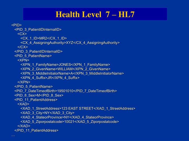 Health Level  7 – HL7