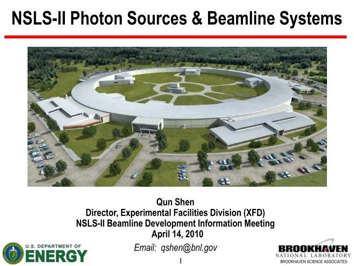 Nsls ii photon sources beamline systems