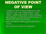 negative point of view