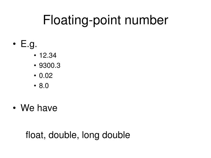 Floating-point number