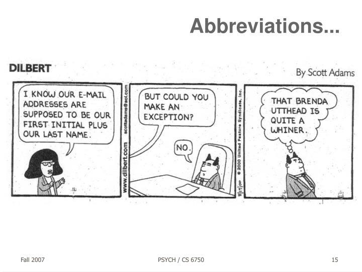 Abbreviations...