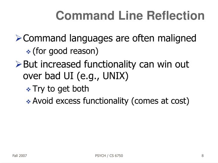 Command Line Reflection