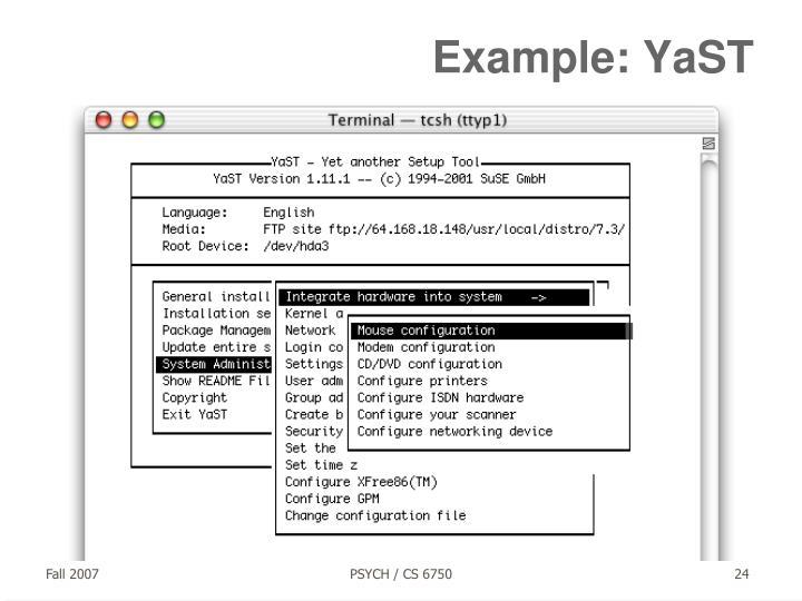Example: YaST