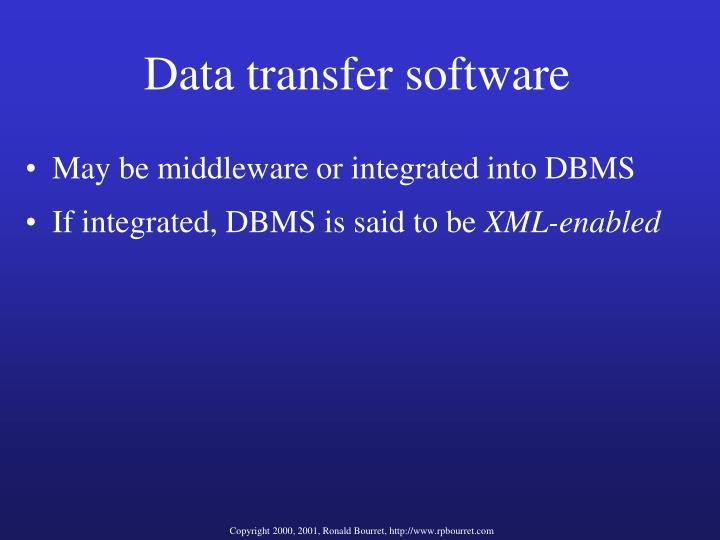Data transfer software