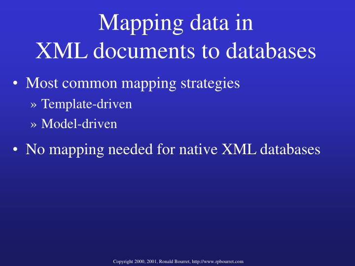 Mapping data in