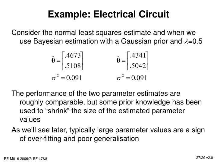 Example: Electrical Circuit