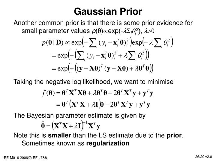 Gaussian Prior