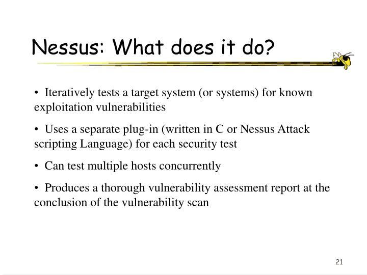 Nessus: What does it do?