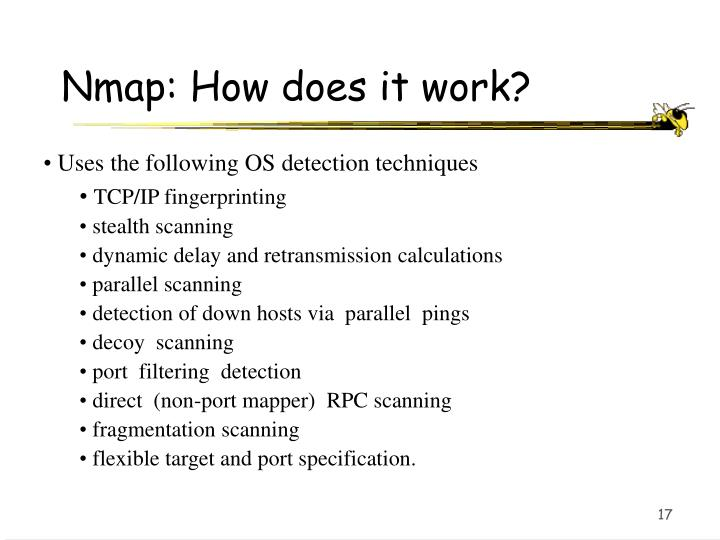 Nmap: How does it work?