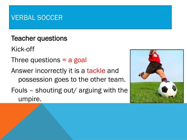 Verbal Soccer
