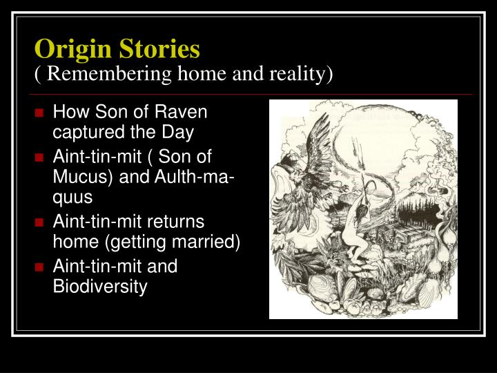 Origin stories remembering home and reality