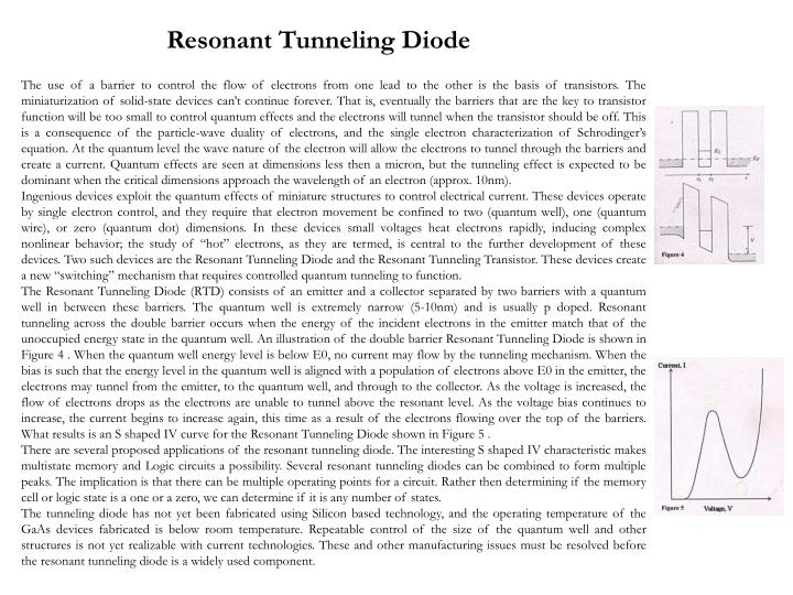 Resonant Tunneling Diode