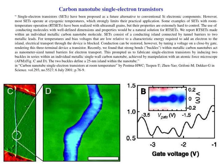 Carbon nanotube single-electron transistors