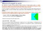 misura di angoli archi