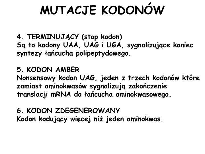 MUTACJE KODONÓW