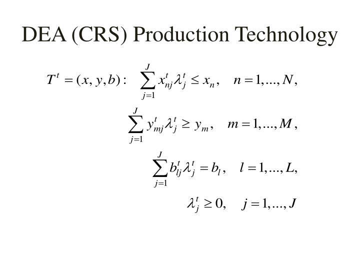 DEA (CRS) Production Technology