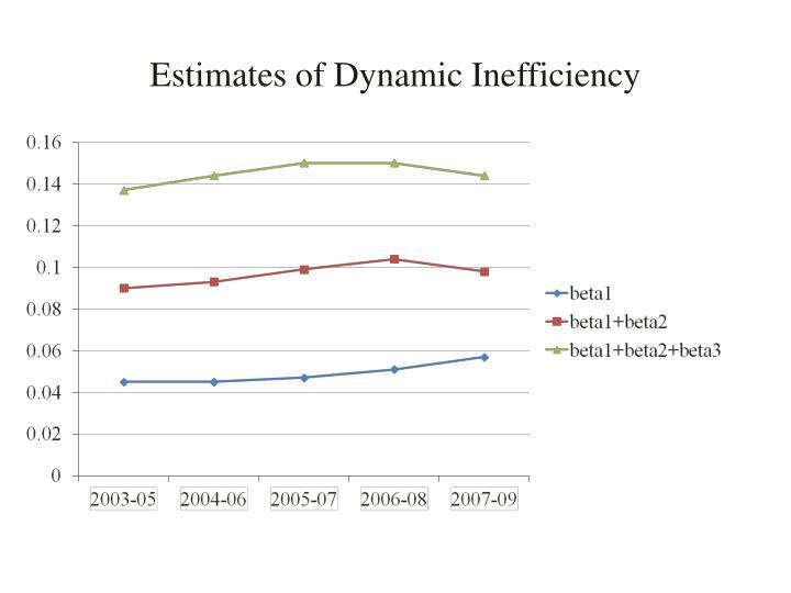 Estimates of Dynamic Inefficiency
