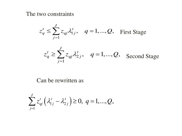 The two constraints