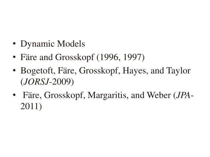 Dynamic Models