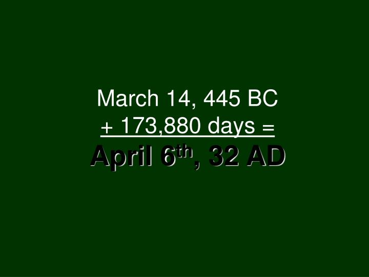 March 14, 445 BC
