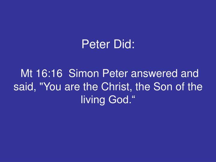 Peter Did: