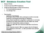 dct database creation tool1