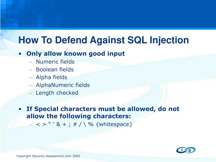 How To Defend Against SQL Injection