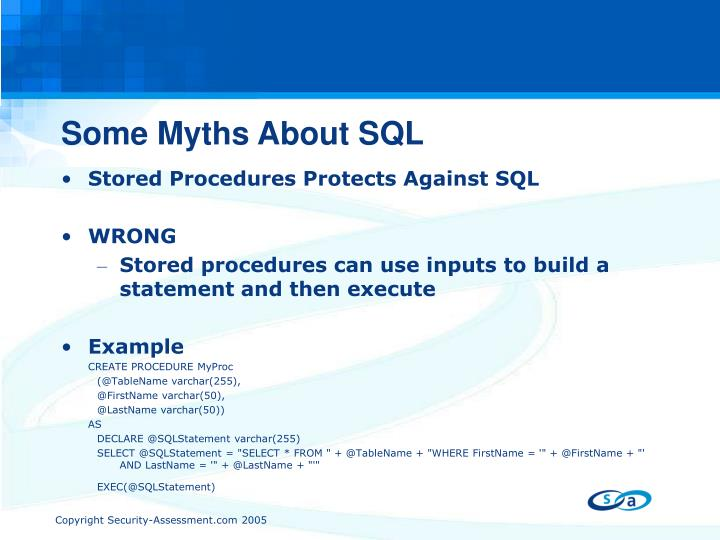 Some Myths About SQL