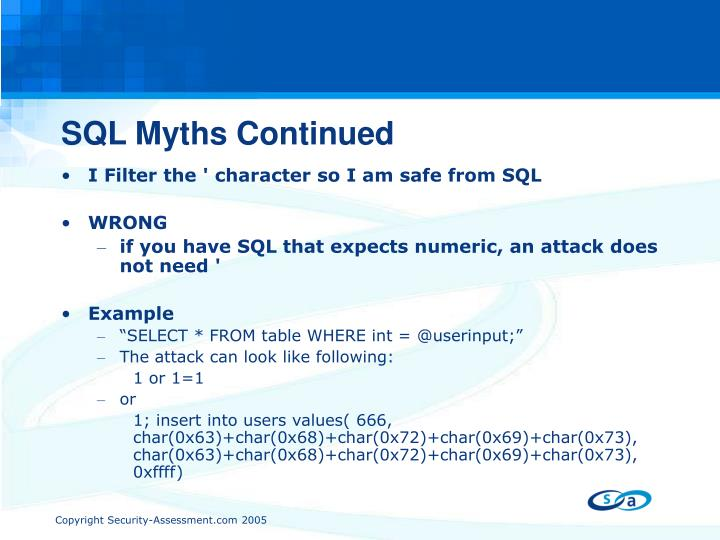 SQL Myths Continued
