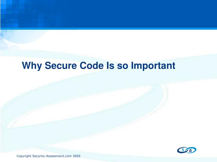 Why secure code is so important