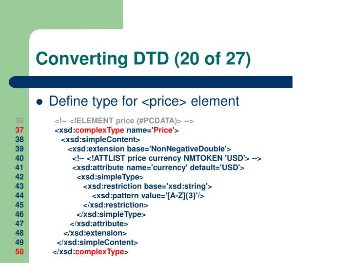 Converting DTD (20 of 27)