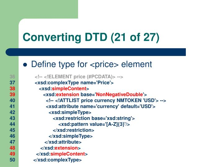 Converting DTD (21 of 27)