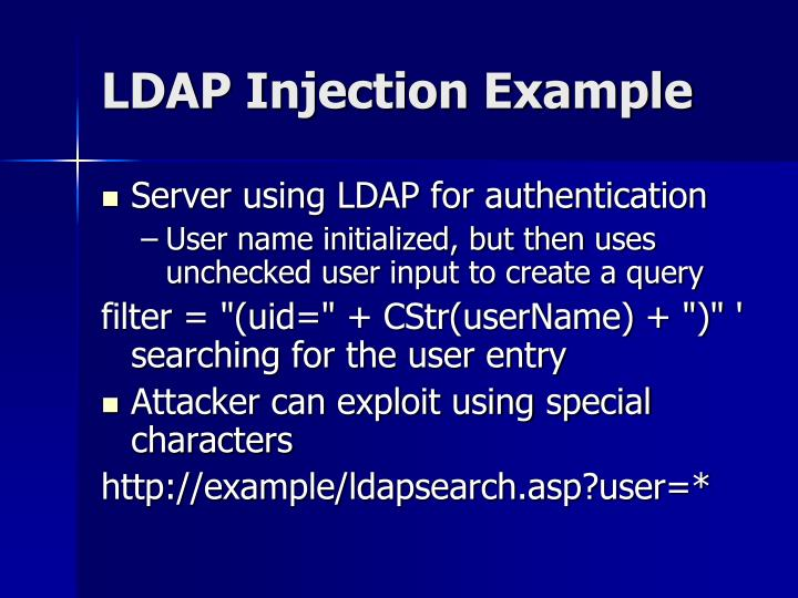 LDAP Injection Example