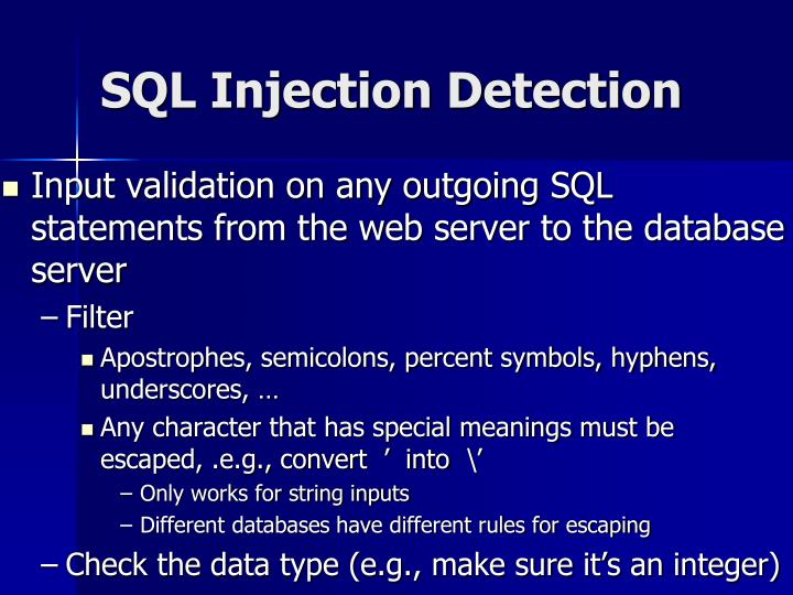 SQL Injection Detection
