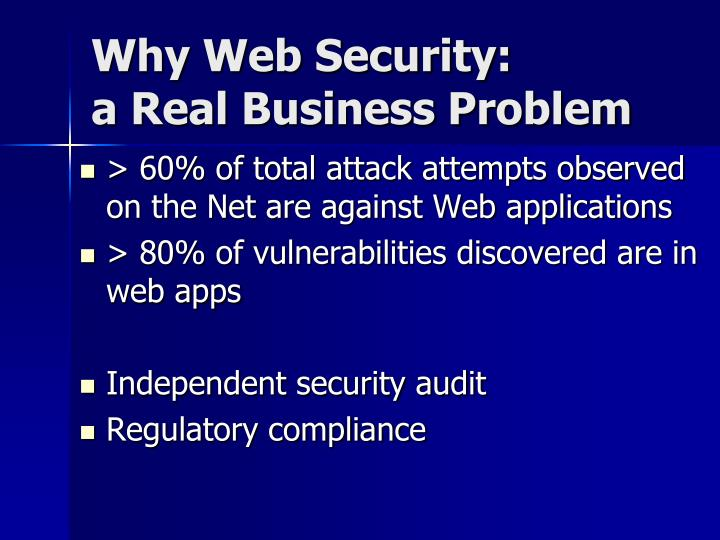 Why web security a real business problem