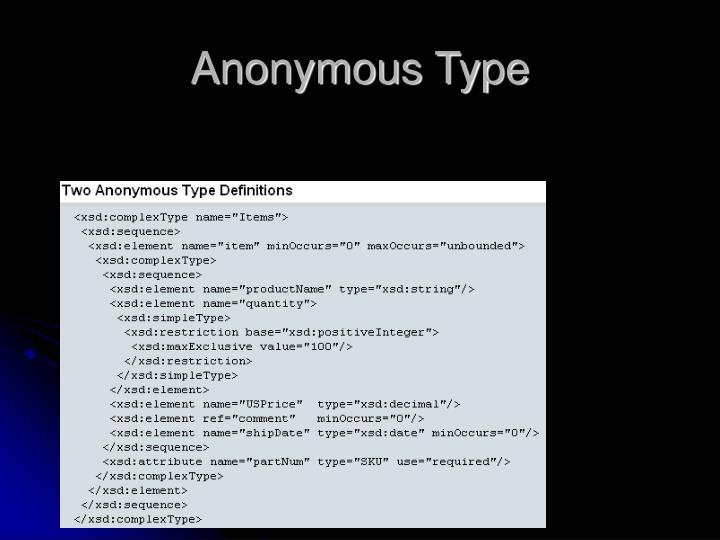 Anonymous Type