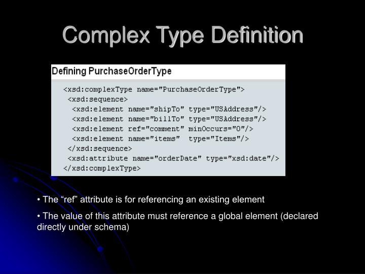 Complex Type Definition