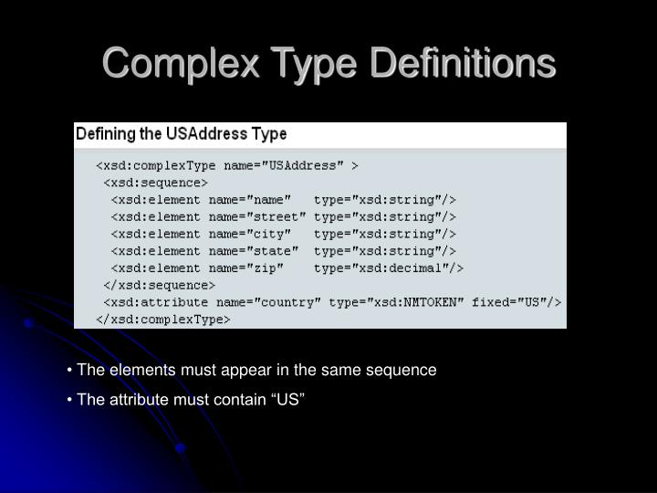 Complex Type Definitions
